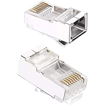 ShineBear ethernet Cable Connector rj45 Plug cat6 Network rj 45 8p8c Modular cat 6 terminals utp unshielded Gold Plated 50pcs Cable Length: 100pcs