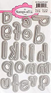 Newport Large Alphabet Lowercase Die Cuts for Card-Making and Scrapbooking Supplies by The Stamps of Life