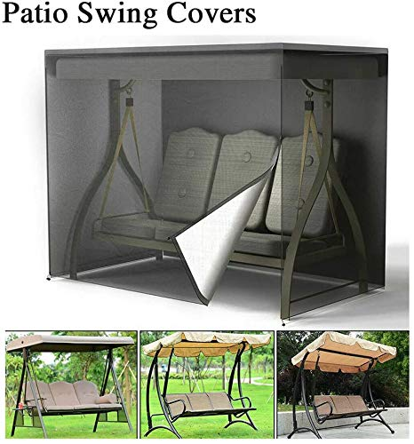 Covers Object Protection Patio Swing Protector, 3 Seater Hammock Glider Protector, Porch Swing Protector, Swing Canopy Replacement Protector, Patio Furniture Protector, Heavy Duty, Weather Resistant
