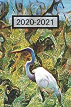 Pretty White Heron Great Egret by Lake Water Foul Bird Lover's Dated Weekly  2 year Calendar Planner: Cute Small Pocket/Purse Size To-Do Lists,Tasks, ... - Dec 2021, 25 months Weekly Planner Book)