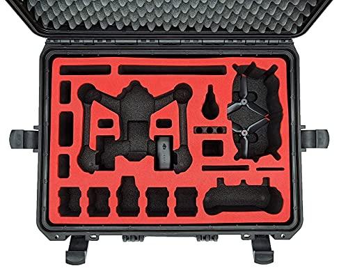 MC-CASES® Valigetta / Custiodia professionale per DJI FPV Combo anche con Bracers – Fly More Set – Explorer Edition – Made in Germany
