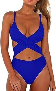 03e1fc10f2c12 CHYRII Women's Sexy Criss Cross High Waisted Cut Out One Piece Monokini  Swimsuit