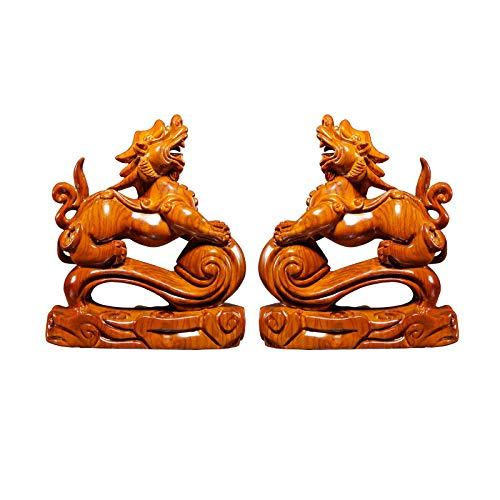 Buddha decorativos Pi Xiu Decoración mejor estreno de una casa de felicitación regalo Feng Shui Conjunto Pi Xiu Figurita atraer la riqueza y buena suerte Feng Shui Decoración Buddha Figures Sculpture