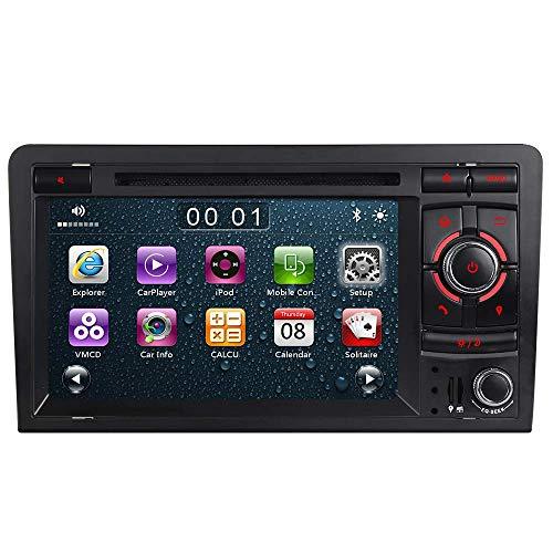 "7\"" AUTORADIO MIT 3G DVD GPS Navigation USB SD Bluetooth Autoradio CD Moniceiver+Bluetooth+ Dual Zone+Subwoofer+DAB+VMCD Für Audi A3 S3 RS3 8P 8V 8PA (Unilaterale Taste)"