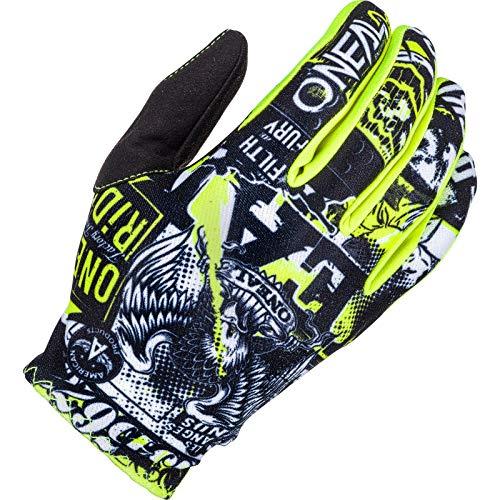 O'NEAL | Guanto Bike Motocross | MX MTB DH FR Downhill Freeride | Materiali durevoli e flessibili, palmo superiore ventilato | Matrix Glove Attack | Unisex | Nero Neon Giallo | Taglia M
