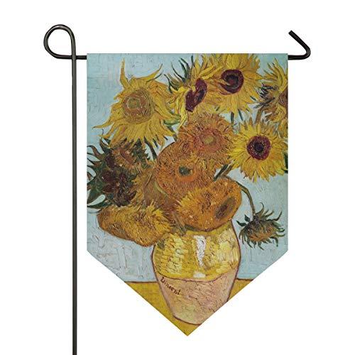 XiangHeFu Garden Vlag Art Vaas Zonnebloem 12x18.5 inch (12