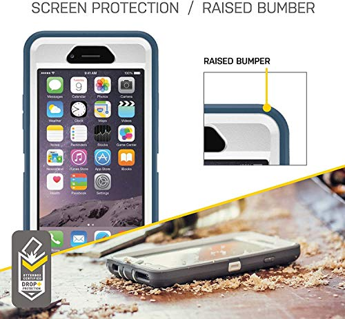 OtterBox Defender Series Rugged Case & Holster for iPhone 6s Plus & iPhone 6 Plus - Non-Retail Packaging - Black - with Microbial Defense
