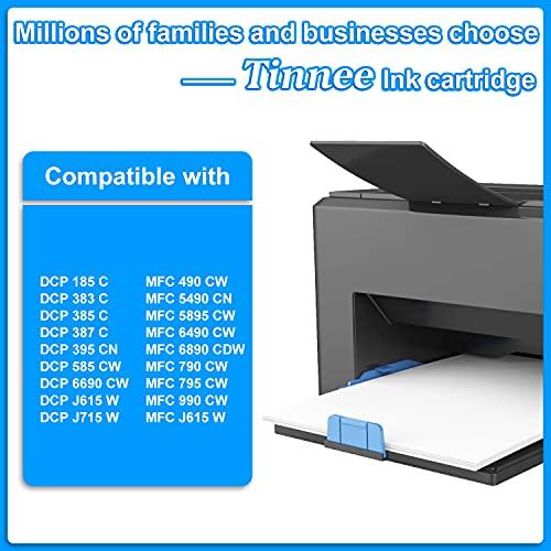 Tinnee - 10 cartuchos de tinta LC980XL LC1100, recambio para Brother LC980XL LC-980XL LC-1100 LC1100B compatibles con Brother Printer MFC-660CN 260C 440CN 3360C 465CN 680CN DCP-750CW