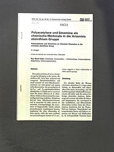 Polyacetylene und Sesamine als chemische Merkmale in der Artemisia absinthium-Gruppe. Planat medica, vol. 35, pp. 84-91.