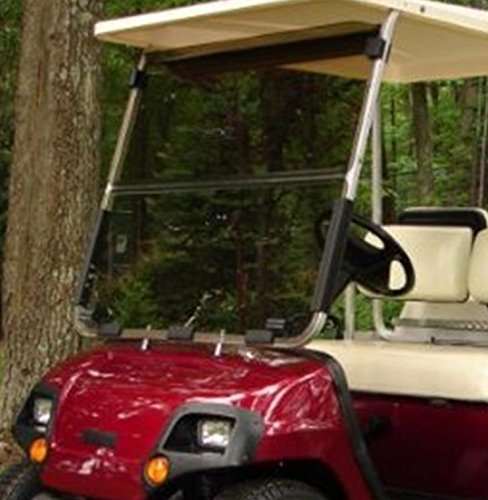 Yamaha G14 G16 G19 Tinted Fold Down Impact Resistant Windshield for Yamaha G14-19 Golf Cart