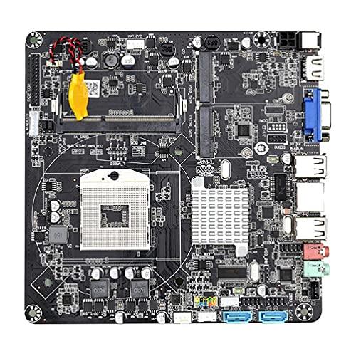HM55B PGA988 Desktop PC Motherboard DDR3 SATA II Mini ITX Mainboard para mini host/HTPC/máquina de publicidad/radio DDR3 SATA II