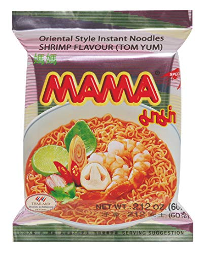 Mama Instant Nudeln Tom Yum Garnelen 60g, 1 Pack (1 x 60 g)