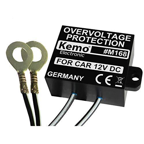 Kemo M168 Überspannungsschutz 12 V/DC. Unterdrückt Spannungsspitzen im KFZ-Bordnetz. Verhindert Beschädigung an empfindlicher Bordelektronik