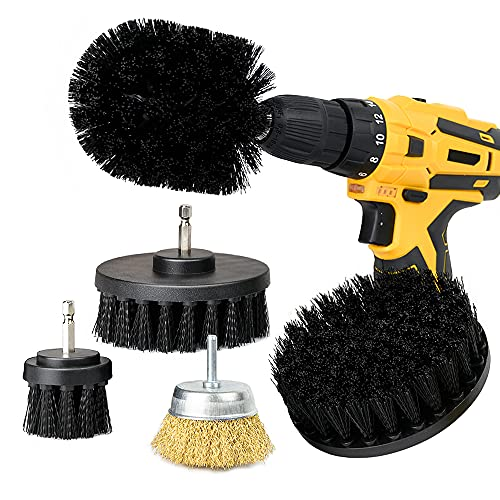 5 Pack Drill Brush Attachments Set, COLAZ Power Scrubber Car Cleaning Brush kit for Grout Floor, Shower, Bathroom and Kitchen Surface