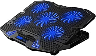 Innoo Tech Cooling Pad for Gaming laptop 17 inch with LED Screen, 5 Quiet Fans, 5 Heights & 5 Speeds Adjustment, 2 USB Por...