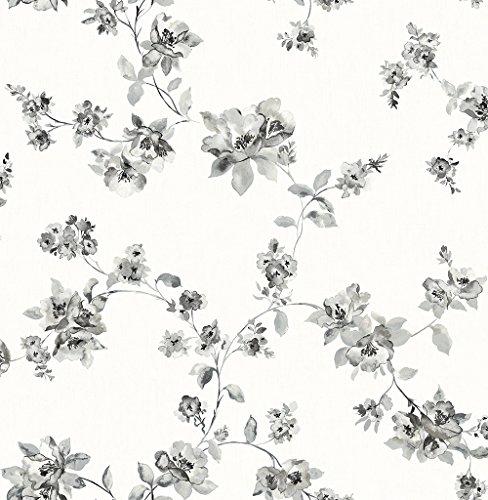 Chesapeake 3115-24482 Cyrus Black Floral Wallpaper
