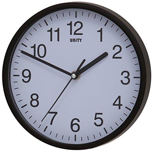 Unity Radcliffe Reloj de Pared silencioso, Negro