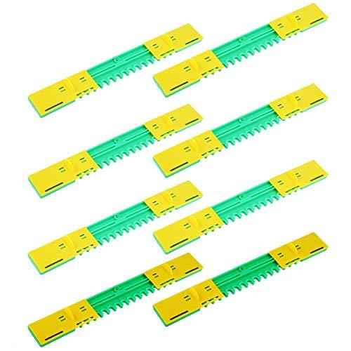 Queen.Y 10 Stück Waben Türstopper Laufgerät Eingangsreduzierer Mausschutz 8 Rahmen Bienenstock Kunststoff Anti-Flucht Eingangsreduzierer
