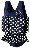 Konfidence Badeanzug mit Schwimmhilfe Blau Gepunktet 4-5 Jahre