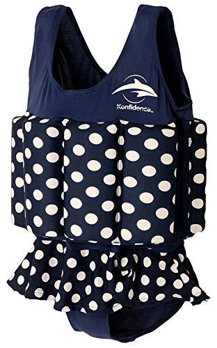 Konfidence Badeanzug mit Schwimmhilfe 1-2 Jahre Blau - Gepunktet