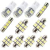 Para CX5 Cx-5 LED Bombilla Luz Interior de Coche Super brillante Luces lectura coche Dome Bombilla Canbus sin errores 12V Blanco 11 Piezas