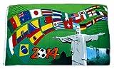 Fahne / Flagge Brasilien WM 2014 Fußball Teilnehmer 90 x 150 cm