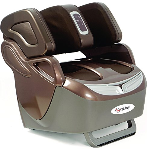 Powermax Fitness Indulge Leg, Foot And Knee Massager With Heat, Rollers And Vibration - Brown