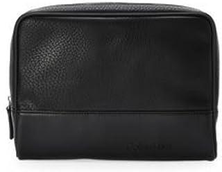 Calvin Klein Men's Dopp Kit Black Zip Travel Shaving Toiletry Case Bag