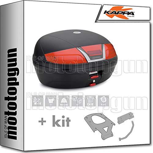 kappa maleta k46n 46 lt + portaequipaje monolock compatible con yamaha xenter 125 150 2020 20