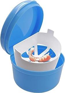 Boite a Dentier - Boîte de Prothèse Dents Boîte de Rangement avec Panier de Rinçage , pour Prothèses Stockage, Nettoyage