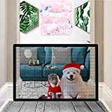Nifogo Hundebarrieren, Magic Gate Faltbar Hunde Türschutzgitter Tür- & Treppengitter für Babys,...