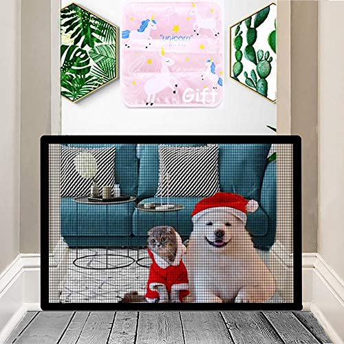 Nifogo Hundebarrieren, Magic Gate Faltbar Hunde Türschutzgitter Tür- & Treppengitter für Babys, Hunde & Katzen