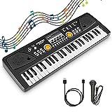 RenFox Clavier Piano 49 Touches Portable Piano Numérique Clavier Électronique Piano avec Micro USB Piano Keyboard Piano Jouet...