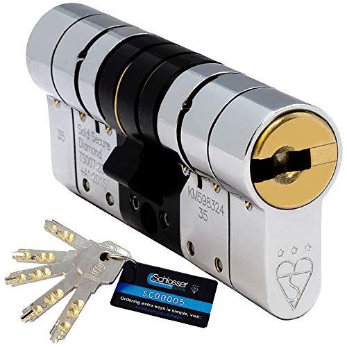 Schlosser Technik - Eurocilindro de alta seguridad (5 llaves), certificación TS007 3 estrellas, Sold Secure Diamond y Secured by Design