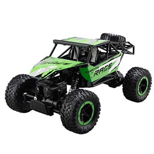 Inverlee New 1:14 2.4Ghz Rock Crawler 4 Wheel Drive Radio Remote Control RC Car ,Xmas Gift for Children (Green)