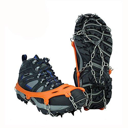 lylbz Chaussures pointes silicone Chaînes à neige Grödel Crampons de chaussures de griffes überzieher 8 dents Acier inoxydable Crampons Crampons antidérapants pour High Altitude Randonnée Neige Glace