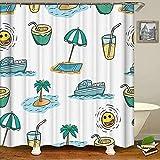 Duschvorhänge Regentropfen Badvorhang Wasserdicht Badezimmer Dekor 3D Modern Washable Fabric Bath Screen 180x180cm