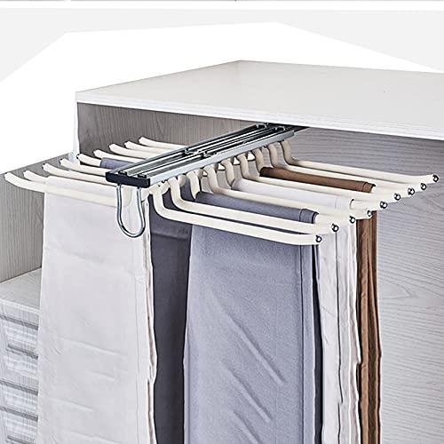 ZYFA Pantalonero extraíble para Armario 18 Brazos,Percha para Pantalonero Extensible,Ahorro de Espacio Organizadores de Ropa