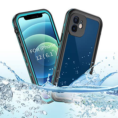 BDIG Custodia iPhone 12 Impermeabile, IP68 Certificato Waterproof Cover Slim Antiurto Antineve Antipolvere AntiGraffio Subacquea Caso Full Protezione Impermeabile Custodia per iPhone 12