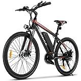 VIVI Vélos Électriques, 26' VTT Électrique, 350W Vélo Électrique Femme et Homme avec Batterie Lithium-ION Amovible De 10,4 Ah, Engrenages Professionnels 21 Vitesses
