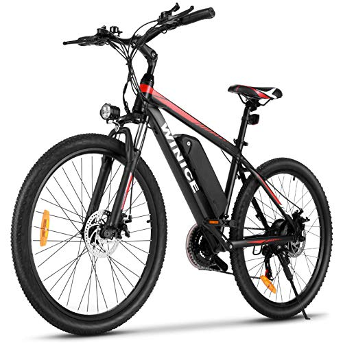 VIVI Bici Elettrica, 26'' Mountain Bike Elettrica, 350W Bicicletta Elettrica Per Uomo/Donna Con Batteria Agli Ioni Di Litio Rimovibile Da 10,4 Ah, Shimano 21 Velocità