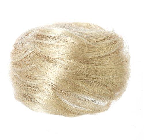 AMERICAN DREAM Dutt aus 100 percent hochwertigem Echthaar - klein - Farbe 22/60/613 blondtöne-Mix, 1er Pack (1 x 84 g)
