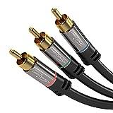 KabelDirekt 951 Câble RCA 3 m Noir/Gris