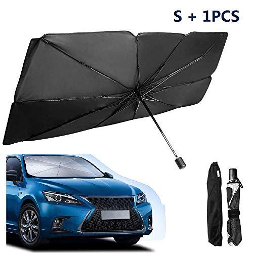 Ombrellone per parabrezza per auto, parasole pieghevole per auto Parasole anti UV, parasole per auto Protezione solare estiva per proteggere il veicolo dai raggi UV (1PCS,S)