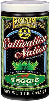 FoxFarm Cultivation Nation Veggie 1lb Feeding Pro Soluble Ranking TOP6 2-Part Detroit Mall