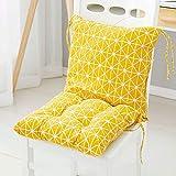 Cojines de Asiento, Jardín respaldo alto silla del asiento del cojín - al aire libre Cojines de dispersión con los lazos de seguridad - 40cm jardín silla del asiento del cojín for muebles de ratán - S