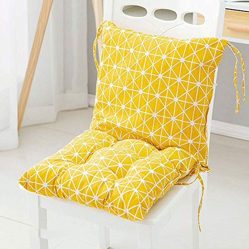 Hjiaqi - lovely Outdoor Garden Cushion - 40cm Indoor Outdoor Garden Dining Room Chair Pad Cushions,Square Chair Pad And Backrest With Soft High Elastic Cotton And Seat Ties (Color : G)