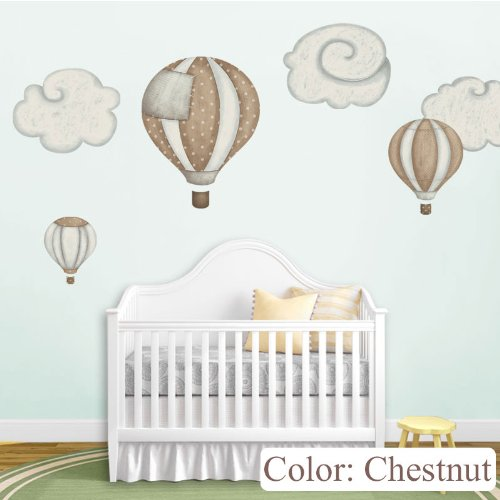 Wonderful Balloon Stickers Nursery Chestnut