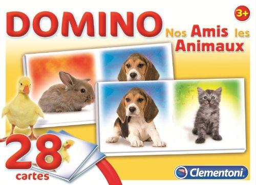 Clementoni - 62479 - Jeu Éducatif et Scientifique - Domino nos Amis - Les Animaux