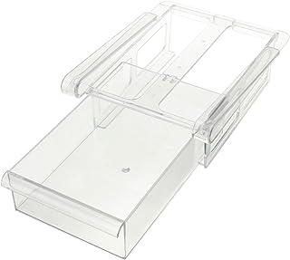 SODIAL 20.5X15X7.3Cm Einfache Kreative Reine Farbe Küche Gefrierschrank Kühlschrank  Schublade Lagerregal Halter Slide